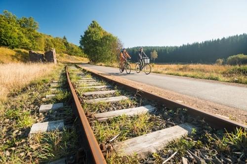 Fietsen Vennbahn - België